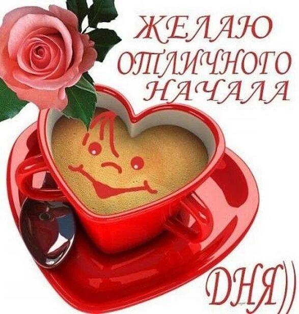 Открытки с добрым утром удачного дня и хорошего настроения